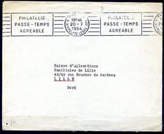 Lil3338 PARIS IX Rue Hippolyte Lebas (9è) RBV A09202 Philatélie Passe Temps Agréable /Lettre Paris 20/07/54 - Mechanische Stempels (reclame)