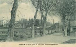 """CPA FRANCE 83 """" Brignoles, Route Du Val , Ecole Supérieure De Garçons"""" - Brignoles"""