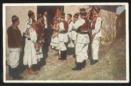 CPA CROATIE KROATISCHE VOLKSTRACHT COSTUMES FOLKLORE 1934 FOTO COLOR K. KORANEK LUMENSTEIN - Croacia