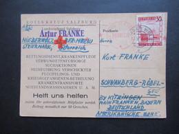 1946 Landschaften Nr. 753 EF Roter Zensurstempel US Civil Censorship Munich Rotes Kreuz Salzburg Landesverband Salzburg - 1945-60 Covers