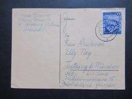 1947 Landschaften Nr.762 EF Zensurstempel Military Censorship Civil Mails Int. Inhalt: Bedruckte Karten Sind Verboten! - 1945-60 Storia Postale