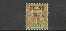 Chine 1902 Cat Yt N° 41  N* MLH - Neufs