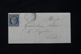 FRANCE - Type Cérès 25ct Sur Lettre Des Sables D'Olonne Pour Napoléon - L 87340 - 1849-1876: Klassieke Periode