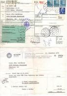 Paketkarte, Rechnung, Wappenloewe U.a., Odense Ueber Padborg Flensburg Velbert Nach Neviges 1974 (3410) - Cartas