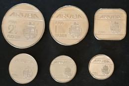 Lot De 6 Pièces Différentes ARUBA - Année 1986 - Beatrix - 5 - 10 25 - 50 CENTS - 1 FLORIN - 2 1/2 FLORIN - Netherland Antilles
