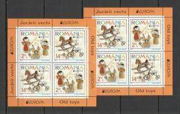 RM123 2015 ROMANIA OLD TOYS EUROPA CEPT BL624(I+II) MICHEL 48 EURO MNH - 2015