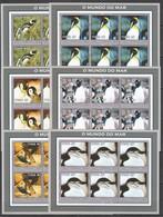 KV127 2002 MOZAMBIQUE FAUNA BIRDS PENGUINS 6SET MNH - Penguins