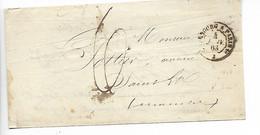 Ferroviaire Ambulant CHERBOURG à PARIS 1° + Taxe Manuscrite 6    1863     .....G - Railway Post