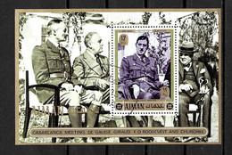 AJMAN 1972 GENERAL DE GAULLE  YVERT N°B OBLITERE - De Gaulle (General)