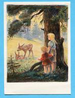 Pro Juventutekarte Nr. 184 - Waldwiese Mit Flugpost Genève-Zürich 1938 - Covers & Documents