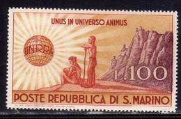 REPUBBLICA DI SAN MARINO 1946 UNRRA LIRE 100 MNH - Nuovi
