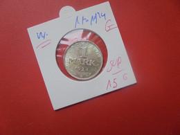 """Rép. De Weimar 1 MARK 1924 """"G"""" ARGENT QUALITE SUPERBE (A.7) - 1 Marco & 1 Reichsmark"""