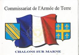 CHALONS En CHAMPAGNE Carte Double De Voeux - Regiments
