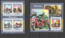 ST2277 2015 MOZAMBIQUE MOCAMBIQUE TRANSPORT MOTOCYCLETES MOTOCICLETAS KB+BL MNH - Moto