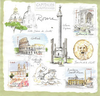 BLOC OBLITERE  CAPITALES EUROPEENNES  ROME - Usati
