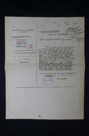 FRANCE - Télégramme De La Préfecture De L 'Allier En Février 1945 Pour Approvisionnement - L 87390 - Guerra De 1939-45