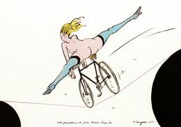 Tomi Ungerer , La Cycliste équilibriste , érotique - Ungerer