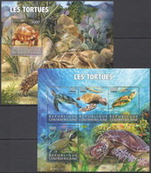 CA212 2015 CENTRAL AFRICA CENTRAFRICAINE FAUNA REPTILES TURTLES LES TORTUES KB+BL MNH - Sonstige
