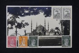 TURQUIE -  Affranchissement Tricolore Sur Carte Postale Avec Vignettes De Istanbul Pour La France - L 87394 - Ohne Zuordnung