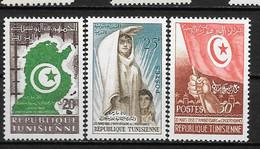 1958 - 451 à 453 **MNH - 2 Ans Indépendance - Tunisia (1956-...)
