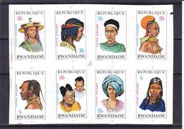 Rwanda - COB 408 / 15 ** - épreuves De Couleurs - NON Dentelés - Coiffes - - 1970-79: Ungebraucht