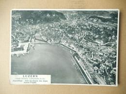 """Suisse Luzern Alpenfluge  Vols Au Dessus Des Alpes ' Alpine Flights ' écrite """" Photo Schweiz Luftverkehrs - LU Lucerne"""