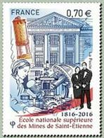 Timbre Neuf France MNH 2016 : Ecole Nationale Supérieure Des Mines De Saint Etienne (1816-2016) - Ongebruikt