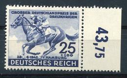 RC 20083 ALLEMAGNE COTE 22€ N° 738 DERBY DE HAMBOURG CHEVAL BORD DE FEUILLE NEUF ** MNH TB - Nuevos