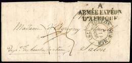"""FRANCE Lettre Du Camp De Mustapha Près D'Alger Pour Salon De Provence Avec MP """"A Armée Expédre D'Afrique"""" + CAD - 1801-1848: Precursori XIX"""