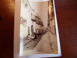 PHOTOS   ALGERIE  DIVERSES SCENES  Début XX   ALGER  RUE ARABE   12 X 18 - Afrika
