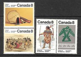 Canada     N°  561 à 564 Indiens Du   Nord  Neufs  * * B/TB    Voir Scans  Soldé  Le Moins Cher Du Site  ! ! ! - Costumes