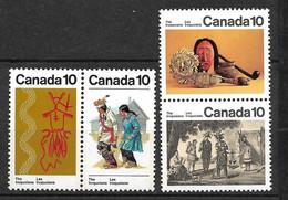 Canada     N° 611 à 614   Indiens  Iroquois  Neufs  * * B/TB    Voir Scans  Soldé  Le Moins Cher Du Site  ! ! ! - Costumes