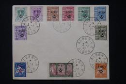 ALGÉRIE - 11 Valeurs De La Série Au Profit Des Soldats D'Algérie Blessés Au Maroc Sur Enveloppe En 1927 - L 87423 - Cartas