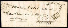 """FRANCE Lettres En Port Payé Avec Griffe Noire Encadrée """"PP""""+CAD Type 15 De Bone (14.7.42), Alger (15.2.48) Et Oran TB - 1801-1848: Precursors XIX"""