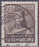 Luxemburg 1935. Caritas/Kinderhilfe, Kaiser Karl IV., 70c, Mi 286 Gebraucht - Usados