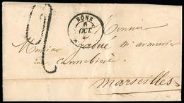 FRANCE Lettres Avec Taxes 2 Au Tampon Manuscrite Dont 2 Confection Locale, Avec CAD Type 15 De Tenez, Bone + Constantine - 1801-1848: Precursori XIX