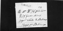 CG15 - Lettera Da Varallo Per Bellinzago 30/9/1816 - Ann. Stampatello Lineare Nero + P.P. - ...-1850 Préphilatélie
