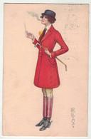Illustrateur Signé // Colombo //  Femme Faisant De L'équitation - Colombo, E.