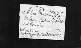 CG15 - Lettera Da Varallo Per Novara 30/5/1835 -  Ann. Stampatello Lineare Nero Con Data 8/6 - ...-1850 Préphilatélie