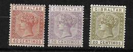 Gibraltar  N° 25 ; 26 Et 30   Neufs * B/TB      Voir Scans  Soldé  Le Moins Cher Du Site  ! ! ! - Gibraltar