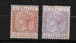 Gibraltar  N° 25 Et 26     Neufs  * B/TB      Voir Scans  Soldé  Le Moins Cher Du Site  ! ! ! - Gibraltar