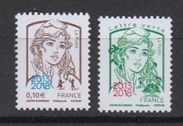 2018-N°5234/5235** MARIANNE DE CIAPPA ET KAWENA SURCHARGE 2013/2018 DU SALON PARIS PHILEX 2018 - Nuevos