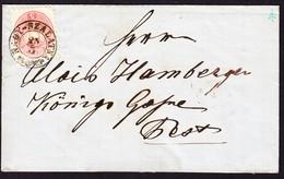 Um 1865  5 Kr Marke Gestempelt Nagy-Szalatna Auf Faltbrief über Waitzen Nach Pest. Ungarn - Brieven En Documenten