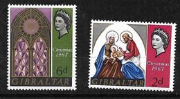 Gibraltar  N° 201 Et 202  Noël      Neufs *  *    B/TB      Voir Scans  Soldé  Le Moins Cher Du Site  ! ! ! - Gibraltar
