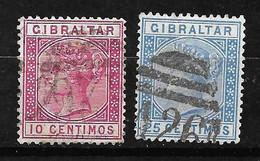 Gibraltar  N° 23  Et  24      Oblitérés      B/TB      Voir Scans  Soldé  Le Moins Cher Du Site  ! ! ! - Gibraltar