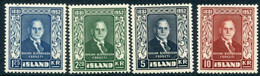 ICELAND 1952  Death Of  Björnsson Set  MNH / **.  Michel 281-84 - Nuevos