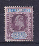 Sierra Leone: 1904/5   Edward     SG90     2½d      MH - Sierra Leone (...-1960)