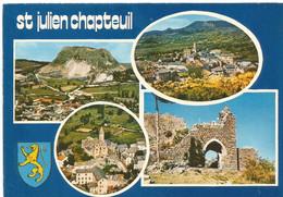SAINT JULIEN De CHAPTEUIL - Suc De Monac, Vue Panoramique, église Romane, Porte Du Château - Altri Comuni