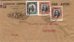 "1931- Cover From Santiago "" POR AVION ""  To  Suiza  ( Aéropostale ) - Cile"