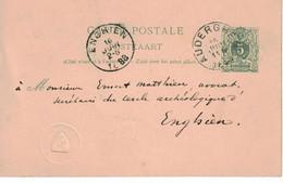 Ernest Mathieu Enghien De Charles Venden Heetvelded'Auderghem. Timbre Sec Avec Blason à Identifier - AK [1871-09]